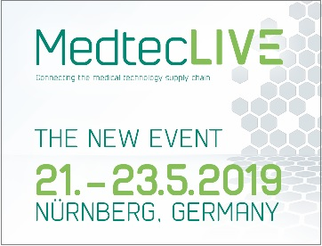 MedtecLIVE – Nürnberg Messe, May 21 – 23rd 2019 | MER-Europe